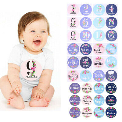 Baby Pregnant Women Monthly Photograph Sticker Fun Month Milestone Stickers