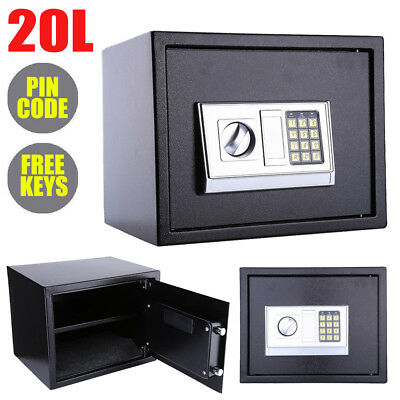 20L Digital Steel Safe Electronic Security Home Office Money Cash Safety Box