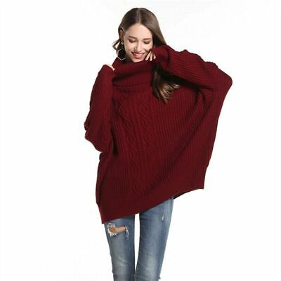 High Collar Soft Sweater Women Autumn  Winter Loose Thick Long Sleeve Solid