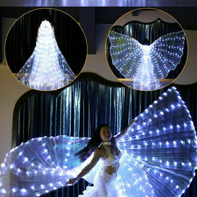 AU LED Dress Belly Dance LED Isis Wings Egyptian Club Light Up Show LED Wings AU