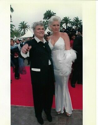 Tony CURTIS AND WIFE Photo Presse Originale CANNES FESTIVAL 1997
