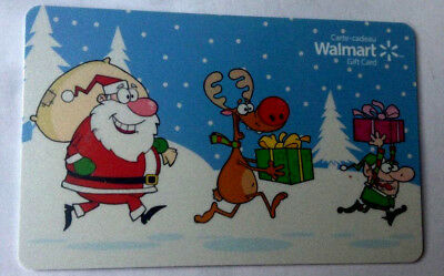 WALMART Limited Edition holiday Gift Card fd-42492 New No Value BILINGUAL