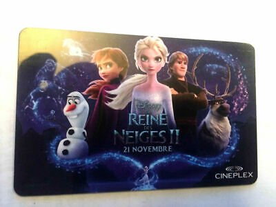 Limited Edition CINEPLEX CINEMAS VIP Gift Card 2015 New No Value BILINGUAL*