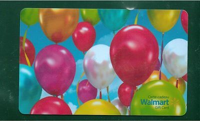 Birthday ballons 2015 GIFT CARD FROM WALMART BILINGUAL NO VALUE *new*