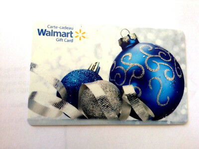 Walmart Christmas Ornament Blue Collectible Gift Card Fd-54288