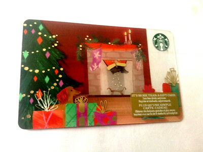 starbucks new 2018 holiday Gift Card No $ Value Collectible reloadable chimney
