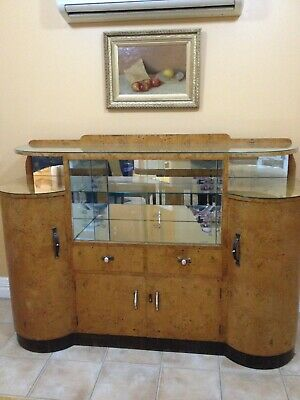 Art Deco Cocktail Cabinet / Display Cabinet / Sideboard