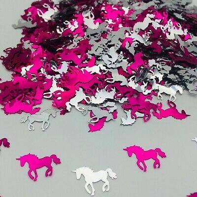 Unicorn Birthday CONFETTI SPRINKLES pink Princess TABLE DECORATIONS Girls Party