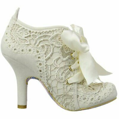 Irregular Choice Abigails Third Party Cream (N7) 3081-6Q Ladies Heels