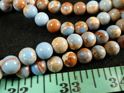 (10) Indian Sky Blue Jasper Trade Beads 150+ Years Old