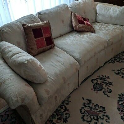 Couch And Two Accent Chairs.Ivory Sofa And Two Accent Chairs Livingroom 495 00 Picclick