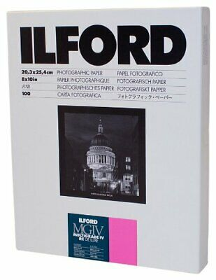 Ilford Multigrade IV RC Deluxe Resin Coated VC Paper 8x10 100 Pack Glossy