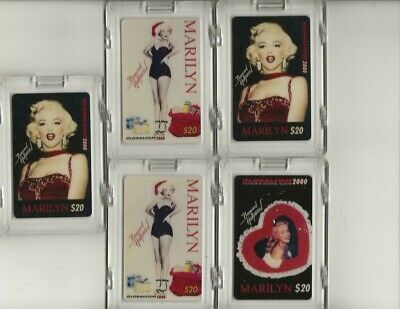 Lot of 5 UN-USED US tel Marilyn Monroe Phone Card Set  $20 each