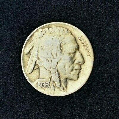 1936-D AU Buffalo Nickel~Almost Uncirculated~Combined Shipping for all items~!
