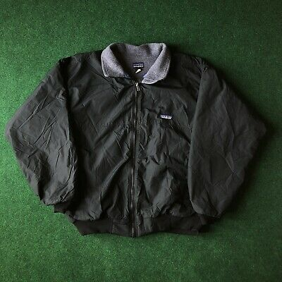 5d19a2a38 VTG 90S PATAGONIA Fleece Lined Nylon Bomber Jacket Made in USA Men's ...