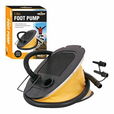 Milestone Camping 85830 Portable Foot Air Pump Inflator Balloon Swimming Ring In