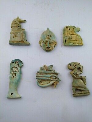 Collection Rare Ancient Egyptian Antique Amulet 1856-1569 Bc (2)