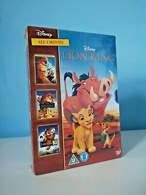 The Lion King Trilogy - 3 movie box set - Disney DVD - New sealed