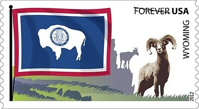 US 4331 Flags of our Nation Wyoming forever coil single MNH 2012