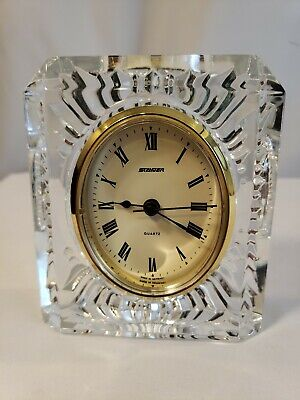 Vintage Staiger French Crystal Case - Clock Quartz Movement (Germany) -Free Ship
