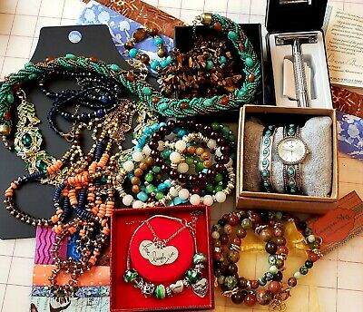 PUBLISHERS CLEARING HOUSE PCH Lot 2 Necklace + Earrings Turquoise