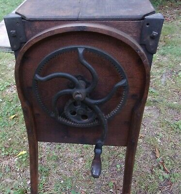 Antique Bent Wood Butter Churn, M. Brown Co. Dated 1877