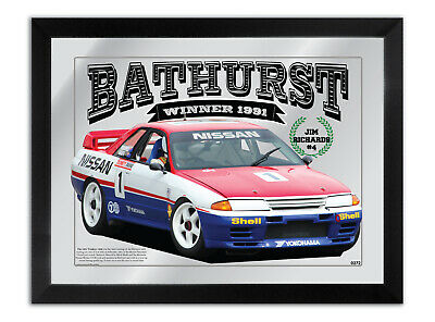 Bar Mirror Bathurst Winner 1991 Jim Richards Nissan Skyline Collection Series