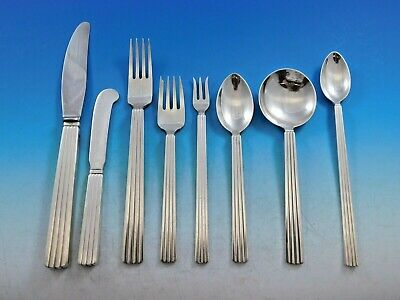 Bernadotte by Georg Jensen Sterling Silver Flatware Set Service 72 pcs Dinner