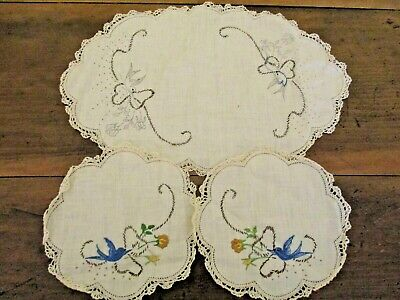 ~Vintage Dressing Table Set - Started - Ready To Complete - Gc~