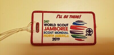 24th World Boy Scout 2019 Jamboree Luggage Tag Patch RED BORDER