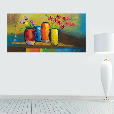 100% Hand Painted Modern Oil Painting Wall Art On Canvas Potted Plant Framed