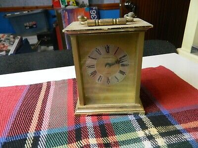 President brass cased carriage mantle clock
