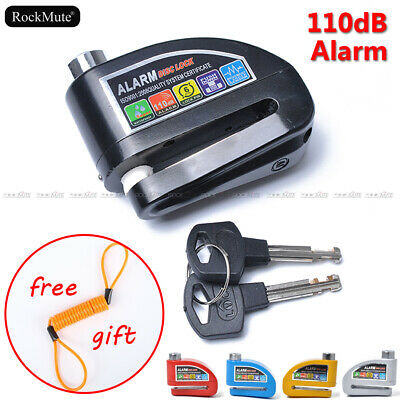 Anti-theft Wheel Brake Disc Lock Alarm Security For Motorcycle Scooter Bicycle