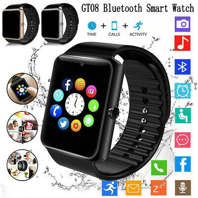 GT08 Bluetooth Smart Watch For Android iOS iPhone Apple Kids Tracker Kids AU