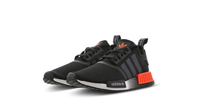 on sale ad2bb 6ffbd NEW ADIDAS NMD R1 Trainers Unisex Core Black Solar Red Limited Edition All  Sizes