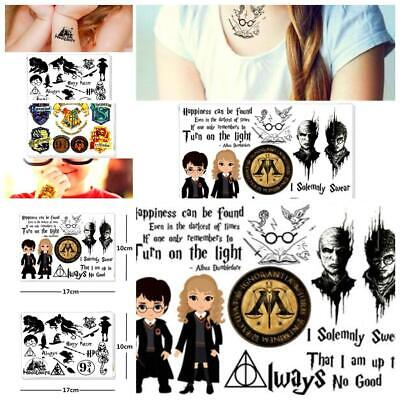 Harry Potter Temporary Tattoo Haolloween / Birthday Party Gifts/Lollies Supplies