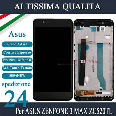 Display Lcd + Touch Screen Per Asus Zenfone 3 Max Nero Zc520Tl X008D Con Frame