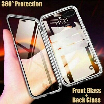 Magnetic Double Side Glass Case Phone Cover For Samsung Galaxy S10 Plus S9 Note9