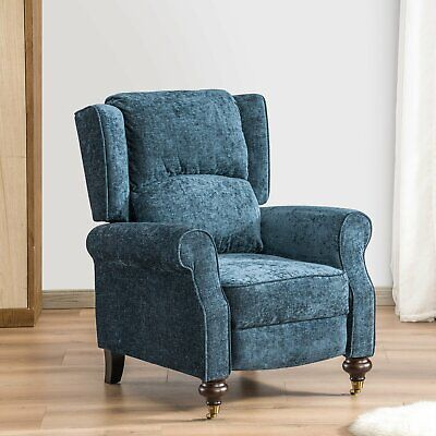 Wingback Recliner Chair Push Up Tufted Elegant Armchair Reclining Furniture