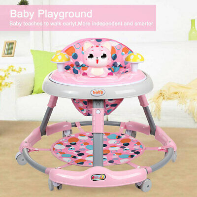 4 +1 Baby Walker First Step Push Along Bouncer Activity Music Ride On Car Melody