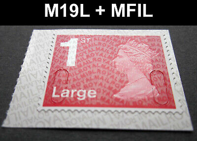 NEW JULY 2019 1st LARGE M19L + MFIL MACHIN SINGLE STAMP from Booklet