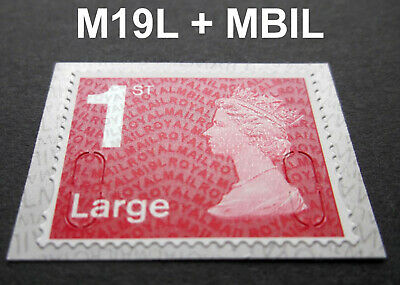 NEW JULY 2019 1st LARGE M19L + MBIL Machin SINGLE STAMP from Business Sheet