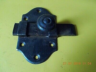 ANTIQUE FRENCH CAST IRON DOOR LATCHES BASE PLATE MEASURES 11 1/2 cm x 7 cm