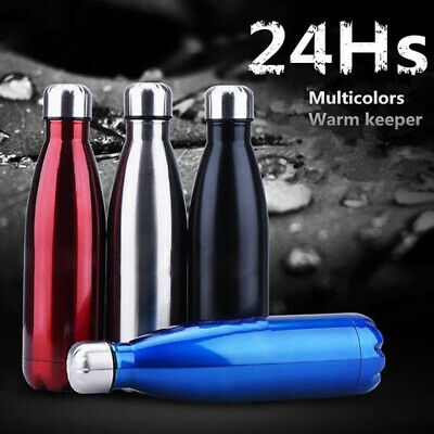 350-1000ML Water Flask Stainless Steel Double Wall Vacuum Insulated GYM Bottle
