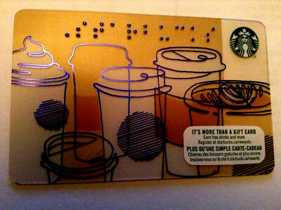 2017 Starbucks Gift Card No Value Mint Bilingual Rechargeable