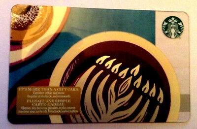 New Starbucks 2018 Christmas Holiday Gift Card Never Used Reloadable !