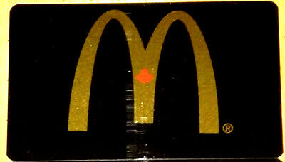 McDONALD'S BLACK/GOLD ARCH GIFT CARD COLLECTIBLE NO VALUE BILINGUAL RECHARGEABLE