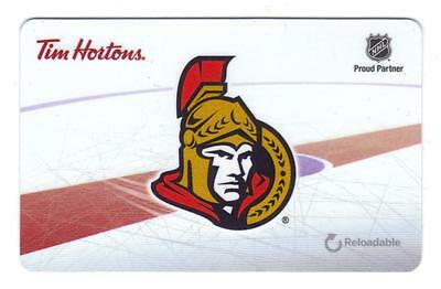 Ottawa Senators Tim Hortons Tim Card Gift Card new Mint FD53942