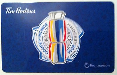 2016 World Cup hockey Tim Hortons collectible gift card French RECHARGEABLE