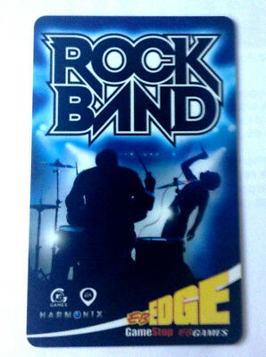 Eb Games Gamestop Rock Band Rhythm Music Fun Game Collectible Gift Card